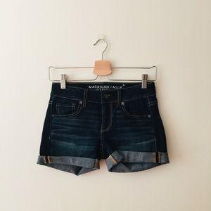 AEO | Blue Denim Midi Shorts